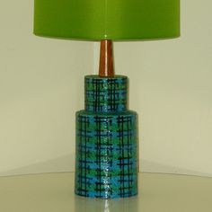 Mid Century Blue Bitossi Lamp