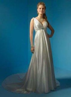 5e4e19bbf0a58 Long Train Sexy V Neck Soft Satin Empire Waist Plus Size Maternity Wedding  Dresses for Pregnant Woman