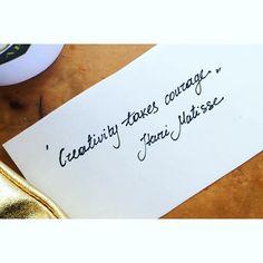 Creativity takes courage. #henrimatisse #philosophy #sunday #quote