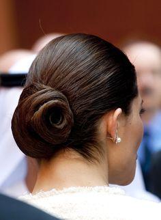 Crown princess Victoria - always elegant hairstyle