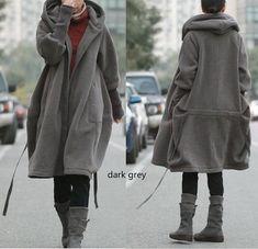 Ramis / libre estilo cremallera con capucha chaqueta con forro de algodón / abrigo de invierno