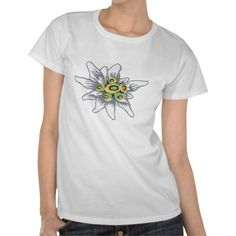 Shop Edelweiss flower T-Shirt created by AlexCiopata. T Shirt Flowers, Flower Shirt, Shirt Style, Your Style, Shirt Designs, Mens Tops, Shirts, Color, Fashion