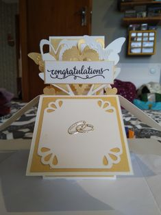 Card in a box wedding Wedding Boxes, Congratulations, Place Cards, Container, Place Card Holders, Fancy, Create