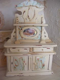 12th scale shabby chic side board by juliedeighton on Etsy, $50.00