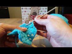 Casaco bebe 0.3 meses com 2 hexagonos em croche.com maria helena 2 parte - YouTube