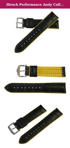 Hirsch Performance Andy Calfleather Alligator Embossed Rubber Lining Watch Band Strap BLACK / YELLOW 22mm. The Andy watchband is made of high-quality calfleather with alligator embossing and HIRSCH Premium Caoutchouc core. This cheeky fresh style in high quality, alligator embossed Tuscany calfskin. The bracelet end, combined with the colourful edge lend Andy a touch of extravagance. A carefree, fresh, eternally young fashion statement. In addition, the special geometry and superior…
