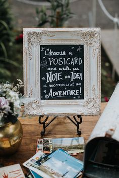 wedding signs - photo by Hazelwood Photo http://ruffledblog.com/bohemian-portland-forest-wedding
