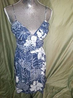 H&m Richards petite dress navy and white size 10 20 shipped