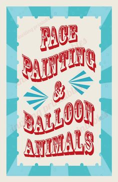 Circus Carnival Birthday Party Signs Pay it by InvitingPrintables, $0.20
