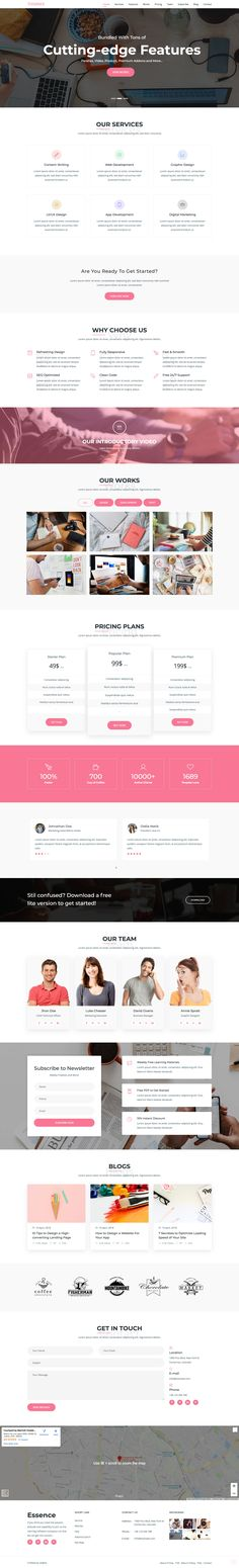 456 Best One Page Website Templates images in 2019 | One