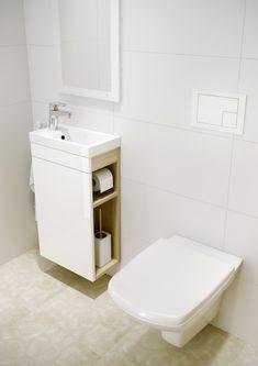 →Skříňka Cersanit SMART pod umyvadlo COMO 40 cm, bílá / světlý jasan, S568-022   AZ koupelny