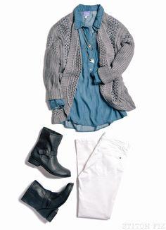 Stitch Fix Ask a Stylist - White denim in the fall