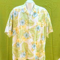 mens Hawaiian shirt vintage 1980s floral by BornToShopVintage, $29.99
