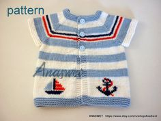 Knitting pattern for baby.Hand knitted baby summer