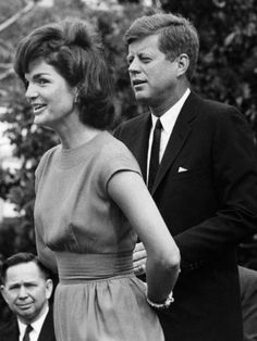 "JFK & Jackie  ""When they went to the White House, they fell in love all over again."" -- Oleg Cassini"