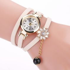 Cheap wristwatch black, Buy Quality wristwatch woman black directly from China wristwatch women Suppliers: Duoya Fashion Women Dress Watches Luxury Black Pearl Leather Wrap Wristwatches