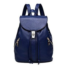 db884fe86b83 LIZHIGU Women Leather Backpack Purse Durable School Travel Bag For Girl  Ladies Review