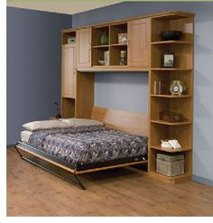 This side tilt Queen bed hardware kit by Murphy Bed is for a hidden horizontal opening wall bed. Kit includes 1 Queen mechanism and 1 frame with regular leg. The maximum mattress size is 60 x 80 x 10 and inches. Build A Murphy Bed, Murphy Bed Plans, Murphy-bett Ikea, Bed Hardware, Modern Murphy Beds, Modern Couch, Modern Wall, Folding Beds, Bed Wall