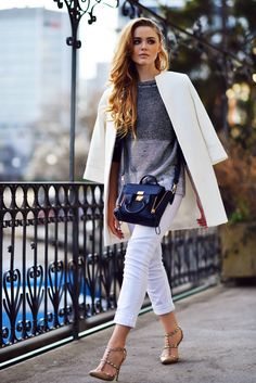 Have you noticed how frequently white jeans have been popping up this spring (and even late winter), well before the traditional season for them?