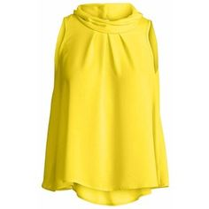 Conquista Fashion - Sleeveless Top with Pleat Detail Yellow