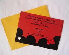 Convite Mickey e Minie