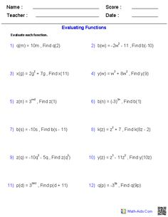 Trigonometric ratios worksheets math aids pinterest these algebra 2 generators allow you to produce unlimited numbers of dynamically created general functions worksheets fandeluxe Images