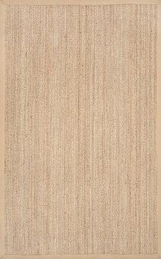 nuLOOM Elijah Seagrass with Border Area Rug, Beige, 8 x 10