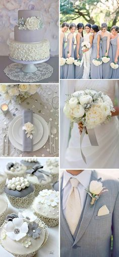 Wondering what colour to choose as your wedding theme? How about grey? Grey is a refreshing and relaxed colour that is very popular this season! Grey is awesome for a wedding theme as it can be paired up with the other colours.