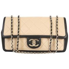 Preowned Chanel 2014 Ss Cruise Collection 2.55 Classic Shoulder Bag (€2.875) ❤ liked on Polyvore featuring bags, handbags, shoulder bags, beige, chanel, chain shoulder bag, chanel purse, chain purse and chain strap shoulder bag