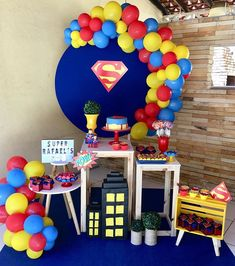 It is time to know what are the best ideas to celebrate a Fashion Party for children through a guide that will tell you A lot of characters to decorate Superman Birthday Party, Diy Birthday Banner, Avengers Birthday, Superhero Party, Superman Party Decorations, Baby Shower Decorations For Boys, Birthday Party Decorations, Birthday Parties, Supergirl