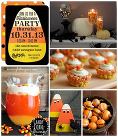 More candy corn fun for Halloween! Halloween Party Inspiration Board on the Tinyprints Blog