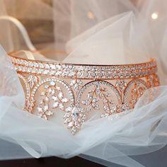 Gold Wedding Crowns, Crown Wedding Ring, Gold Tiara Crown, Bride Hair Accessories, Bridal Tiara, Queen, Rose Gold, Princess Wedding, Rose Wedding
