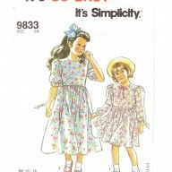 Original vintage sewing pattern for little girls Laura Ashley style bridesmaids or party dresses- to buy