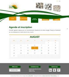 """Site """"Avec le soleil"""" - Page Agenda et Inscription"""