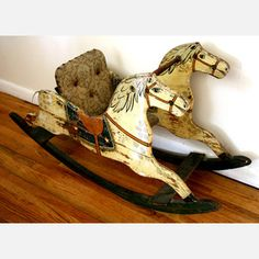 Antique Rocking Horse now featured on Fab.