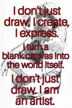Drawing is expression. #artistlife