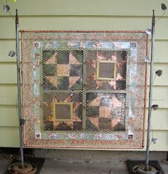 A different kind of quilting... I made this quilt made from Copper, Steel and Brass...