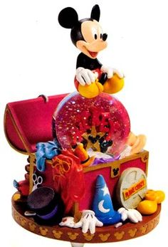 Disney Mickey's Wardrobe Trunk Snowglobe