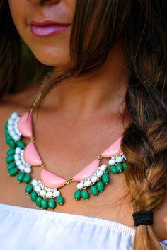 Dress Me In Fringe Barbie Necklace: Pink | Hope's on Wanelo
