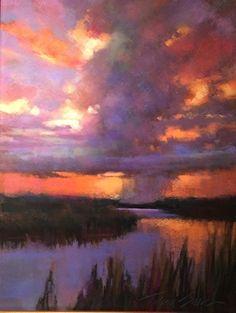 """Approaching Storm by Teresa Saia Pastel ~ 20"""" x 18"""""""