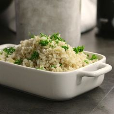 """No-Fuss Perfect Baked Brown Rice 