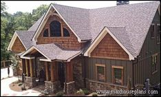 craftsman style house with brick - Google Search