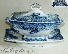Earthenware, Stoneware, White Sauce, Cut Glass, 19th Century, Sons, Porcelain, Blue And White, Victorian