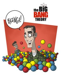 Character designs for an animated The Big Bang Theory series.