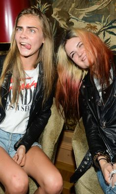 Cara Delevingne And Alison Mosshart At The Garage Magazine Party At Paris Fashion Week SS13, 2012