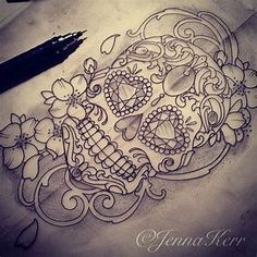 Ideas Tattoo Rose Lace Sugar Skull - You are in the right place about Ideas Tattoo Rose Lace Sugar Skull Tattoo Design And Style Gal - Animal Skull Tattoos, Small Skull Tattoo, Skull Tattoo Flowers, Skull Girl Tattoo, Sugar Skull Tattoos, Skull Tattoo Design, Sugar Tattoo, Sugar Skull Sleeve, Lace Skull Tattoo