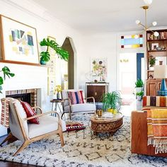 Wonderful living room of @dabito
