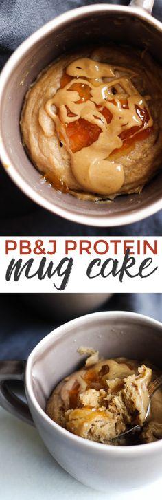 PB&J Protein Mug Cake
