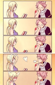 Natsu and Lucy= Nalu from fairy tail - anime Fairy Tail Meredy, Fairy Tail Loki, Fairy Tail Comics, Fairy Tail Gray, Fairy Tail Funny, Fairy Tale Anime, Fairy Tail Natsu And Lucy, Fairy Tail Nalu, Fairy Tail Guild