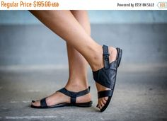BF SALE 50% Black Sandals Leather Sandals Handmade by abramey